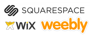 Squarespace wix weebly